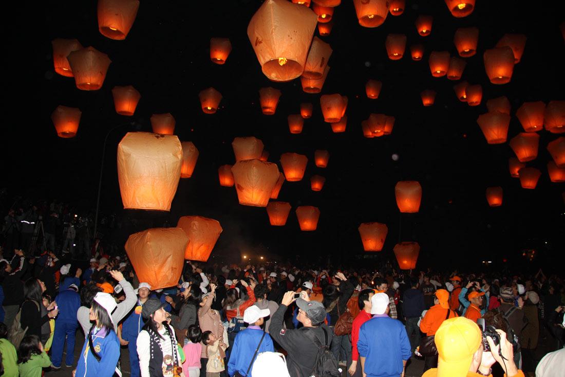 Праздник фонарей в Пинси