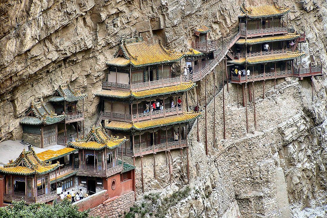Храм Сюанькун-сы на скале