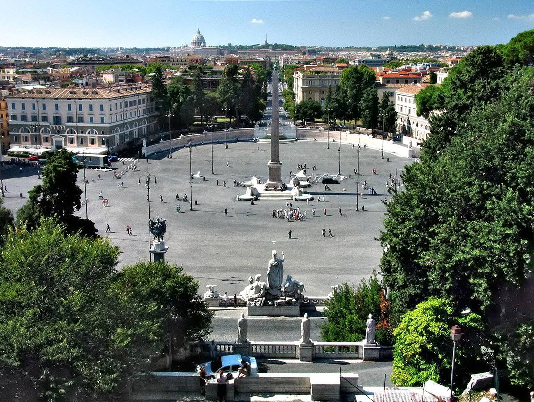 Пьяцца-дель-Пополо (Piazza del Popolo)