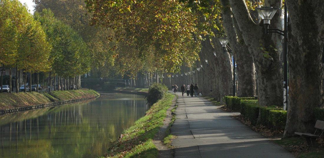 Лангедокский канал в Тулузе