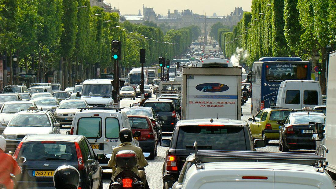 Париж трафик