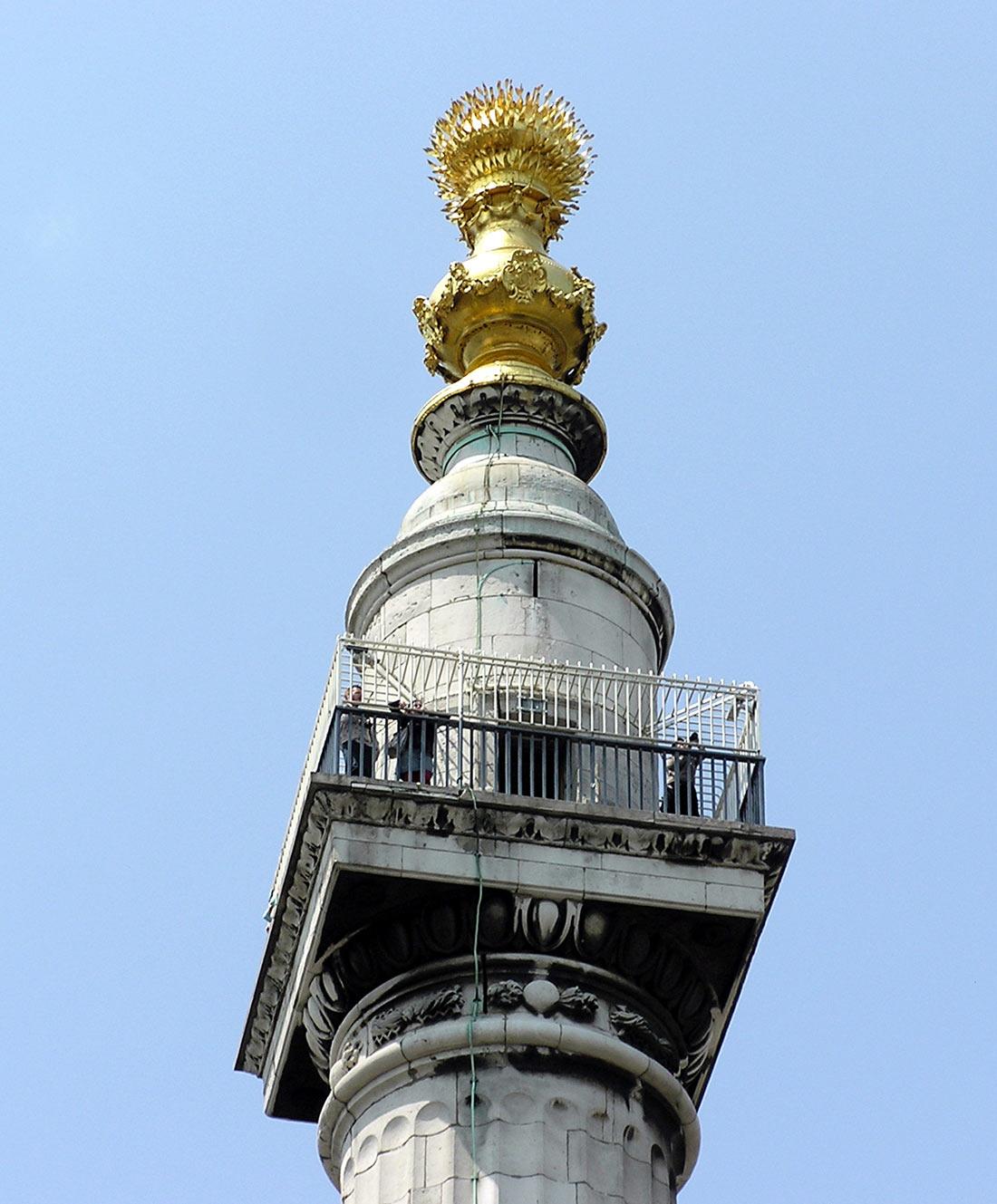 Монумент в память о Великом лондонском пожаре