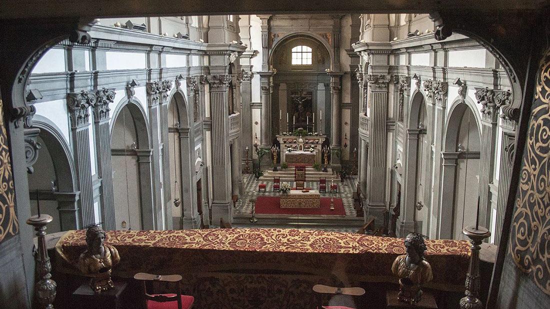 Церковь Санта Феличита внутри