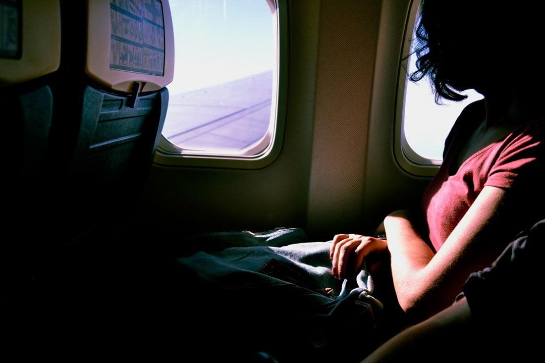 путешествие в самолете