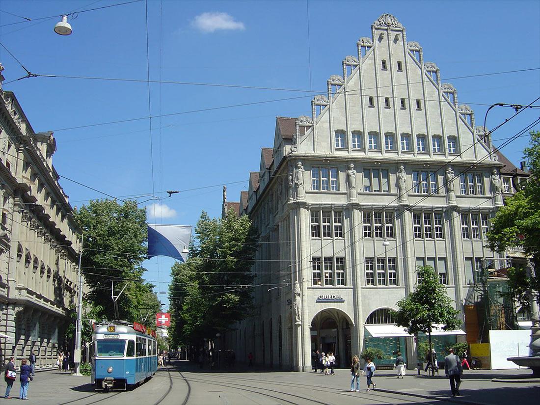 Банхофштрассе в Цюрихе