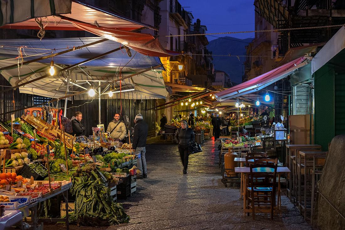 Уличные рынки Палермо