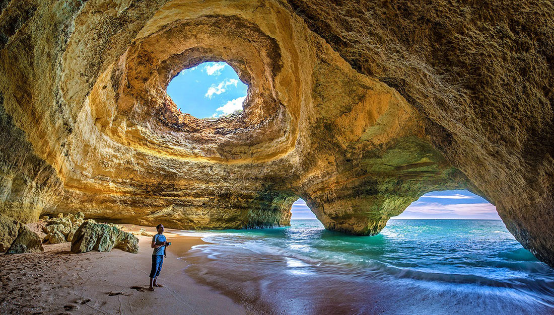 Пляжи Португалии. Пляж Бенагил (Praia de Benagil)