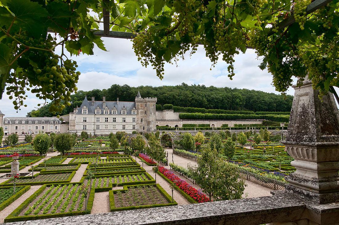 Вид на замковые сады