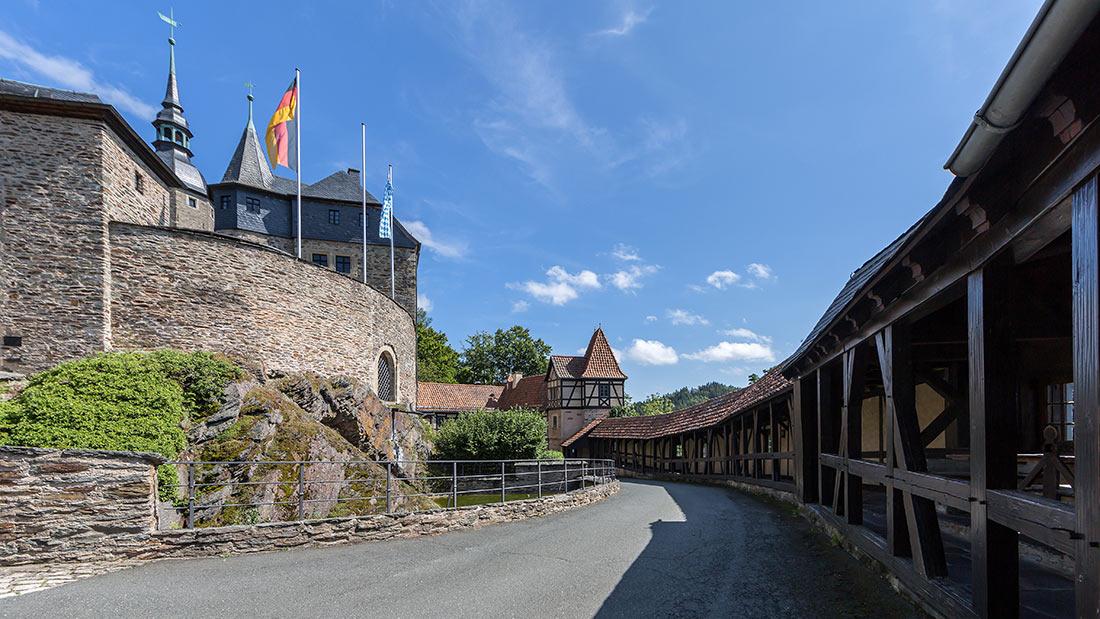 Южная стена замка Лауэнштайн